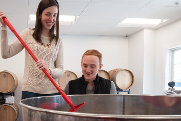 stirring wedding wine