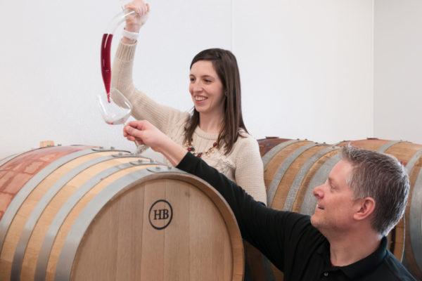 wedding wine barrel glass