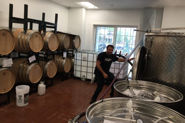 pumping the wine