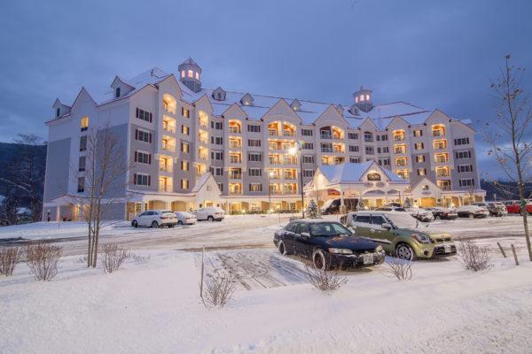 Winter Shot of RiverWalk Resort Snowmobile Trail Access